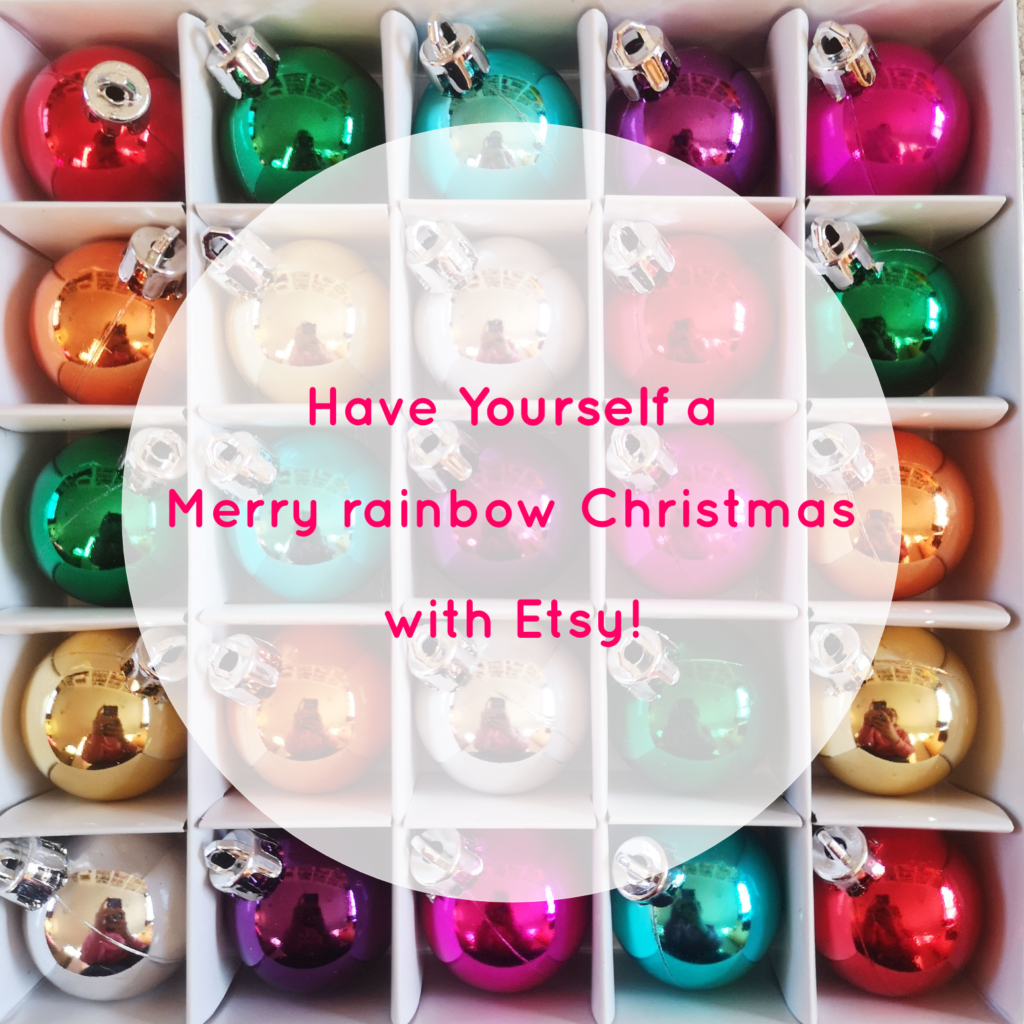 Have Yourself a Merry Rainbow Christmas with Etsy | Hello! Hooray!