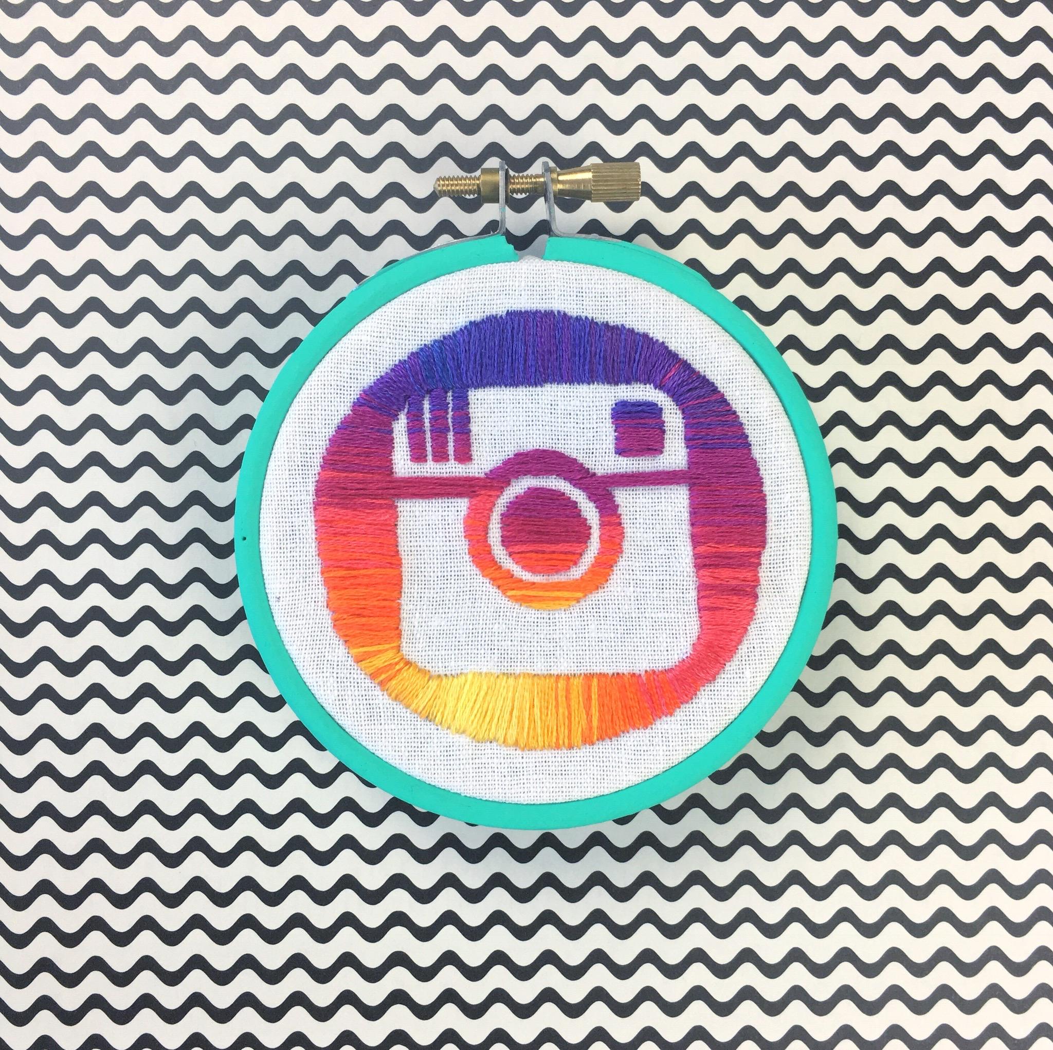 Instagram stitched logo | Hello! Hooray!