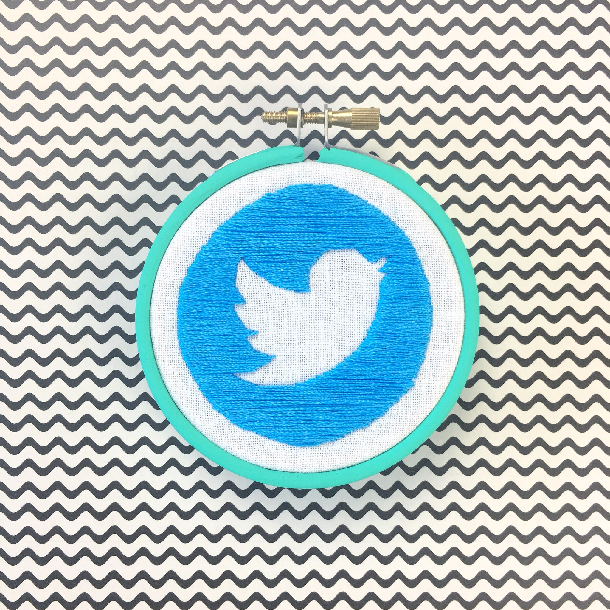 Twitter stitched logo | Hello! Hooray!
