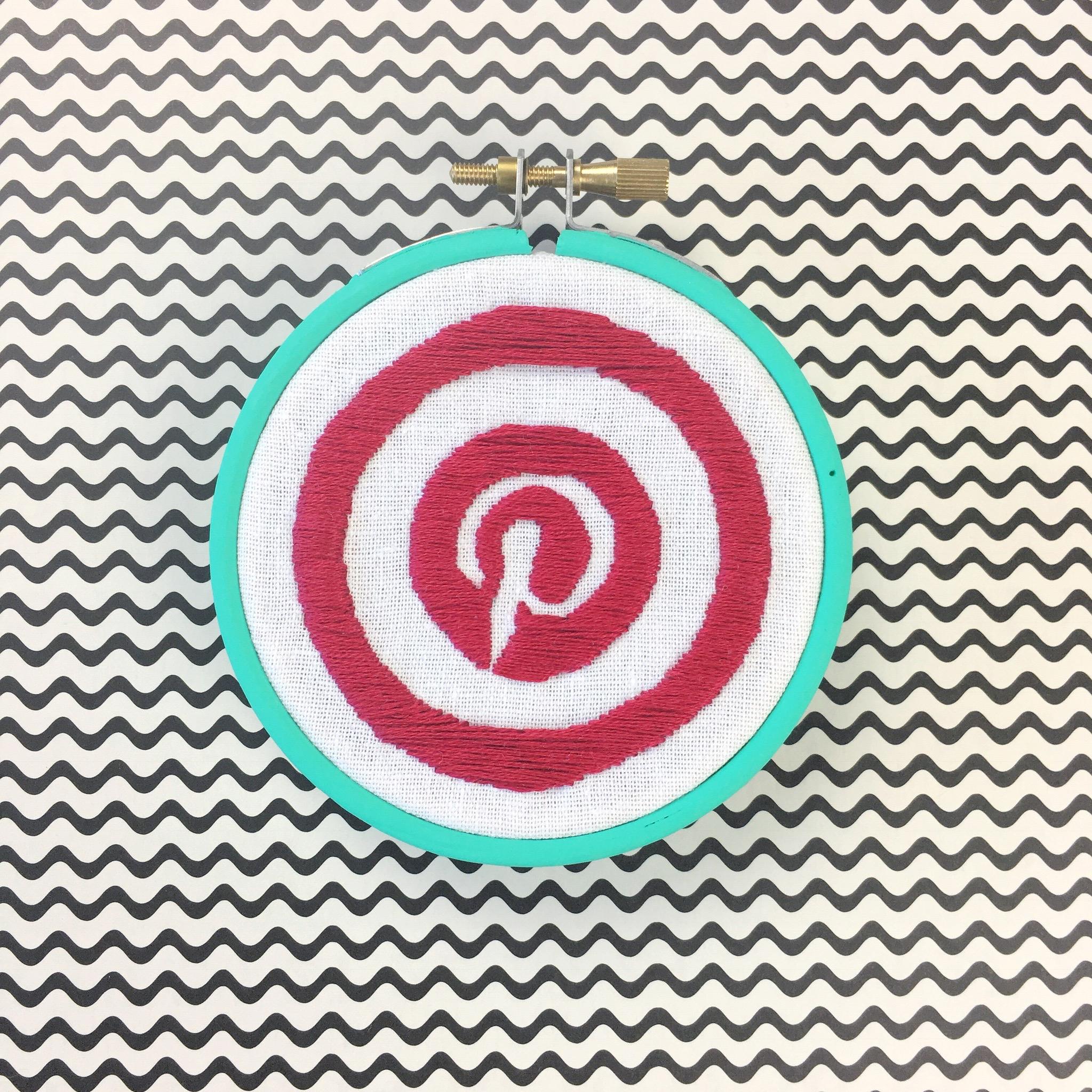Pinterest stitched logo | Hello! Hooray!