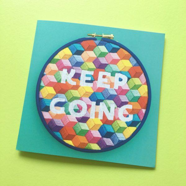 Keep Going greetings card blue | Hello! Hooray!