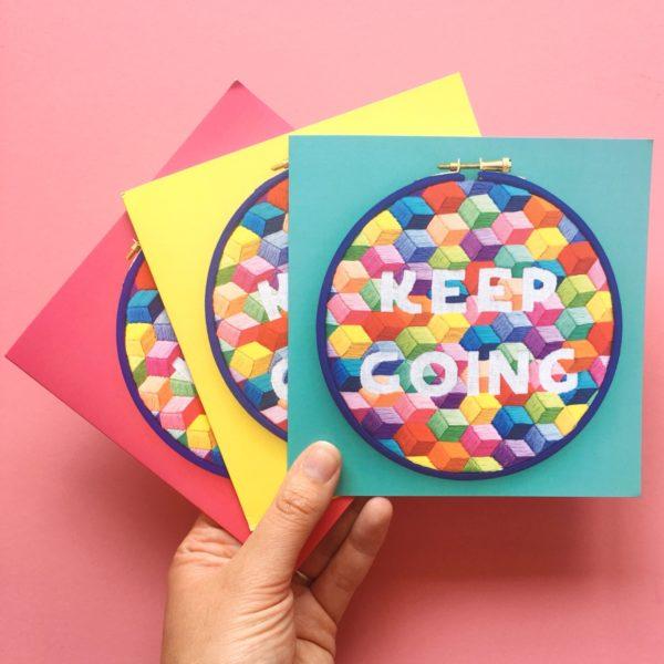 Keep Going greetings cards | Hello! Hooray!