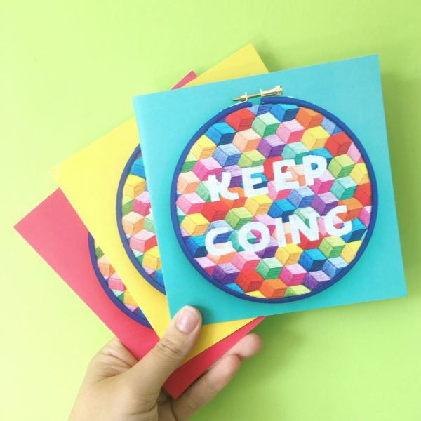 Keep Going greetings cards pack of 3 | Hello! Hooray!