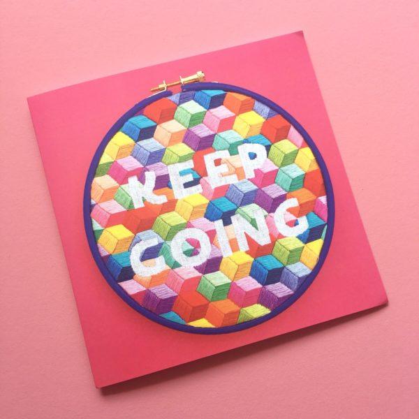 Keep Going pink card | Hello! Hooray!