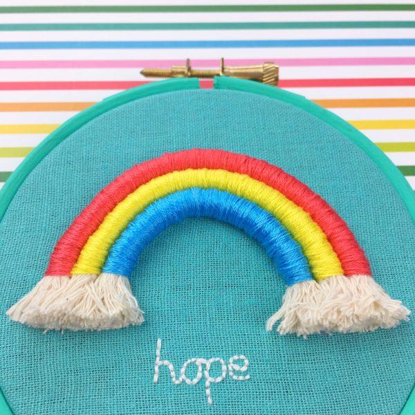Little rainbow of hope   Hello! Hooray!