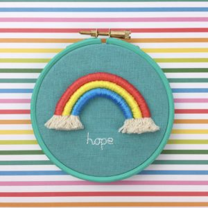 Little rainbow of hope hoop | Hello! Hooray!