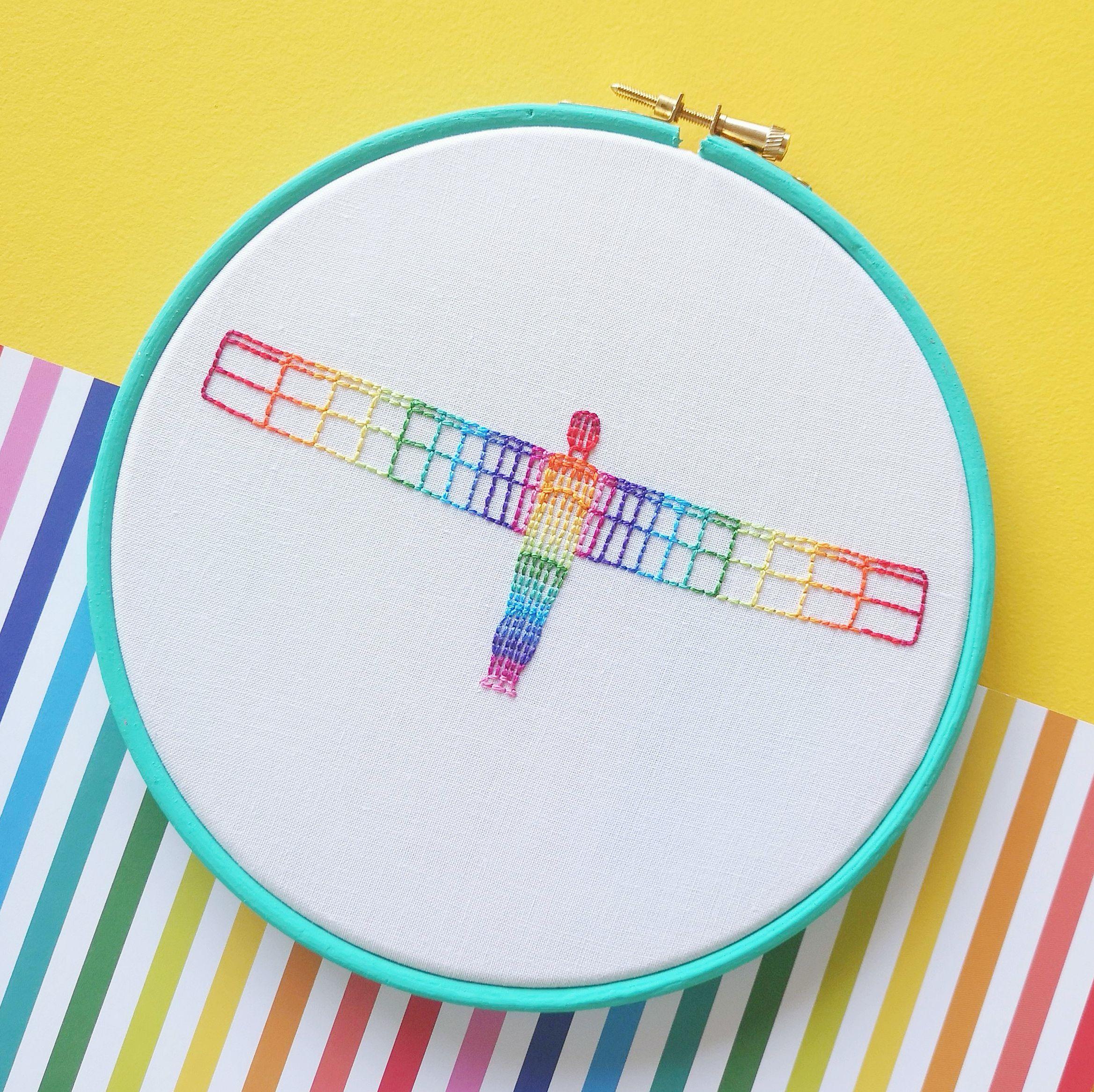Rainbow Angel embroidery workshop | Hello! Hooray!