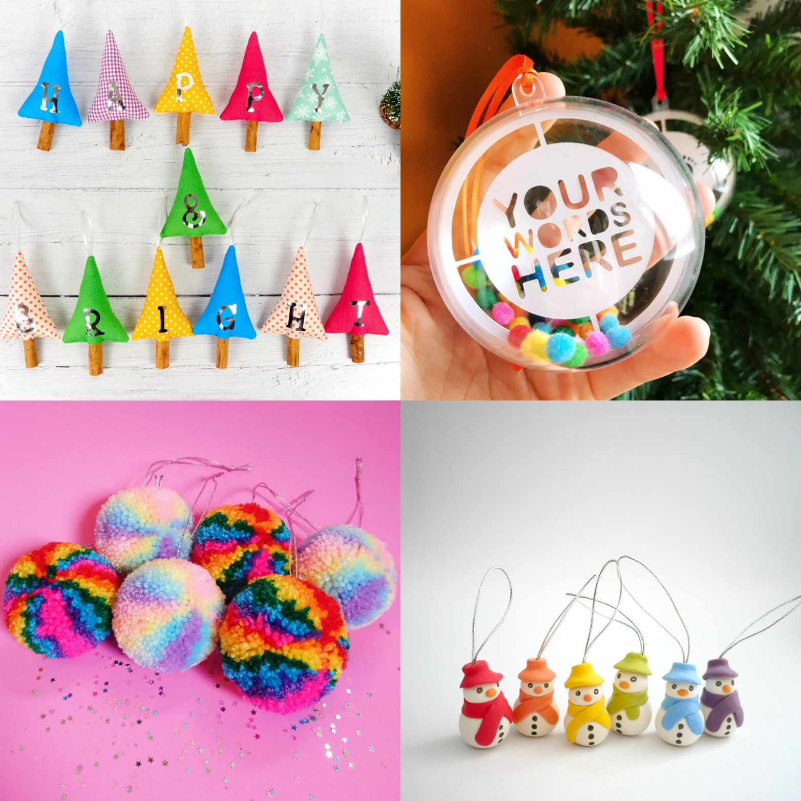 Merry rainbow Christmas Etsy more tree decorations | Hello! Hooray!