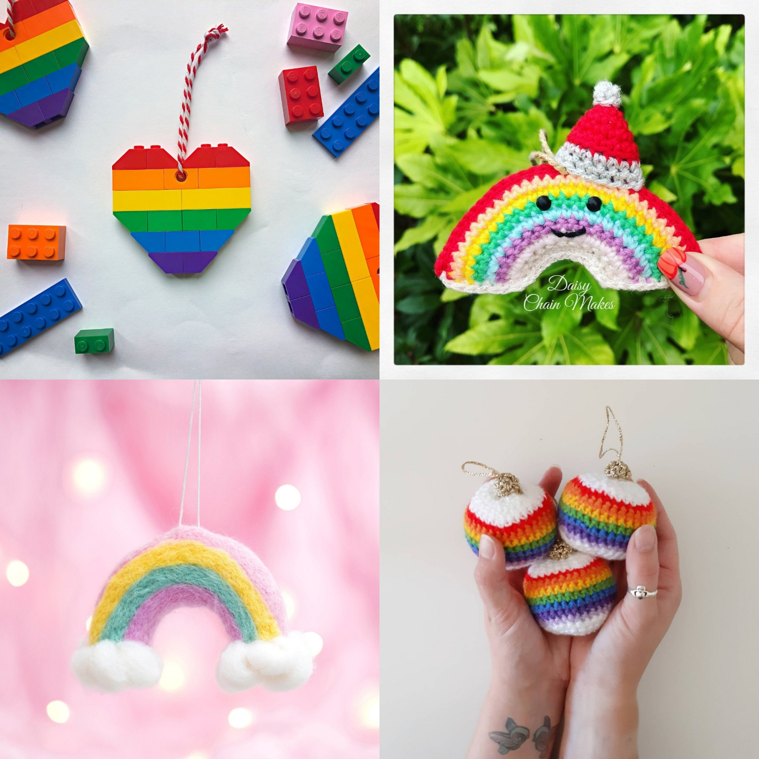 Merry rainbow Christmas Etsy tree decorations | Hello! Hooray!
