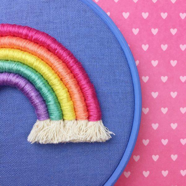Pastel rainbow cornflower hoop | Hello! Hooray!