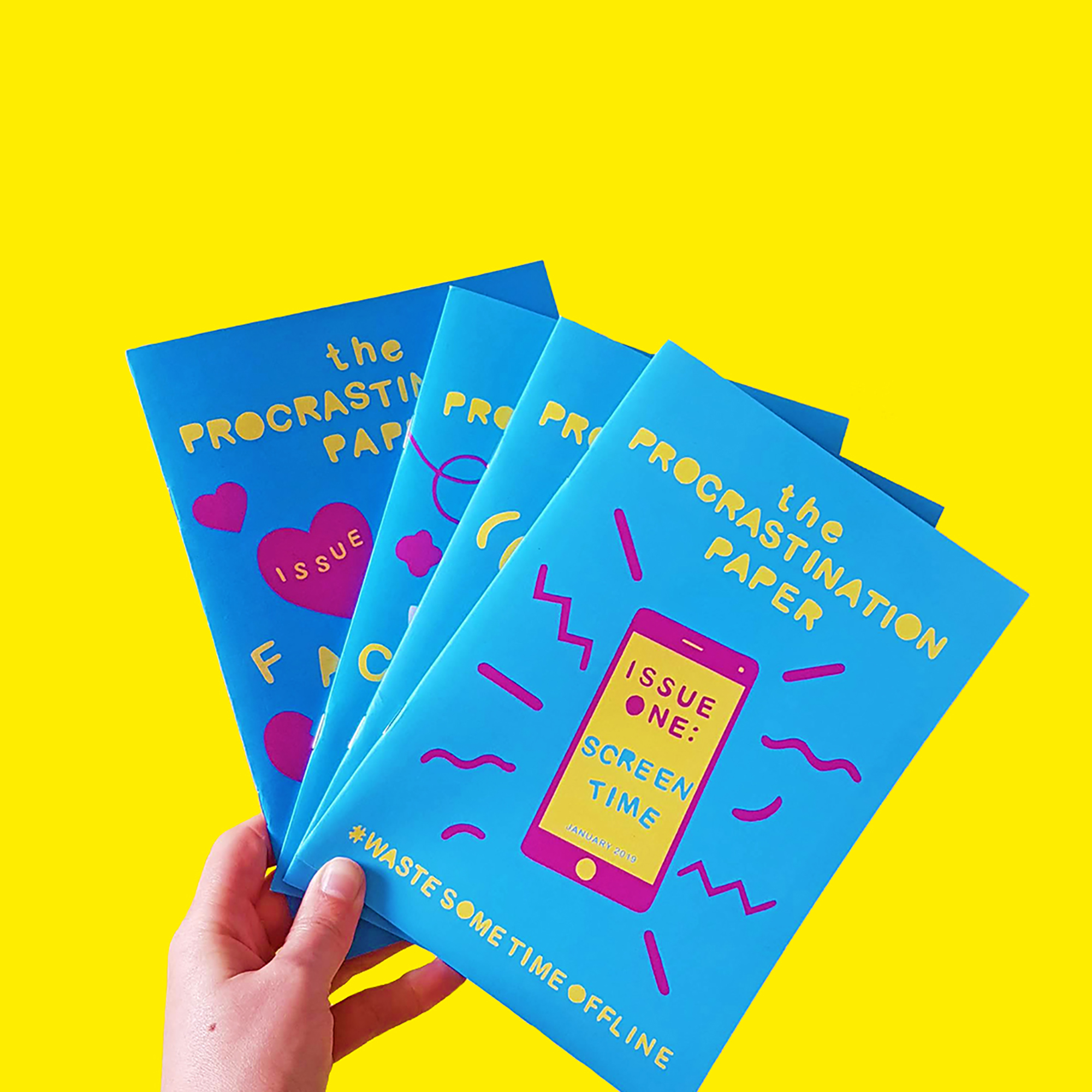Procrastination Paper Mags by Zabby Allen