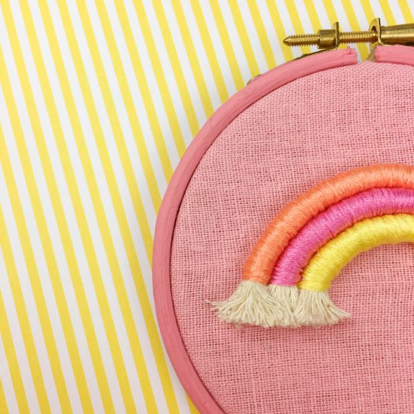 Rope rainbow hoop small sunset details | Hello! Hooray!