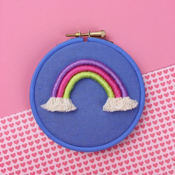 Small cornflower rope rainbow hoop   Hello! Hooray!