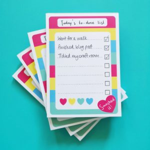 To-done list notepads | Hello! Hooray!
