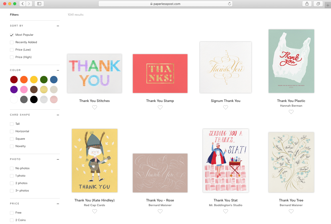 Thank you cards | Hello! Hooray!