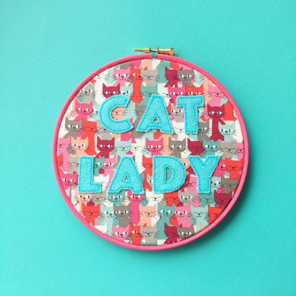 Cat Lady vegan felt hoop | Hello! Hooray!