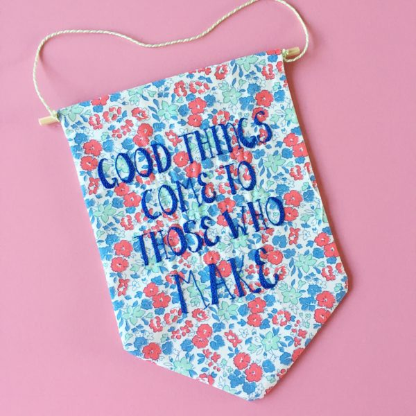 Good Things hand embroidered Banner | Hello! Hooray!