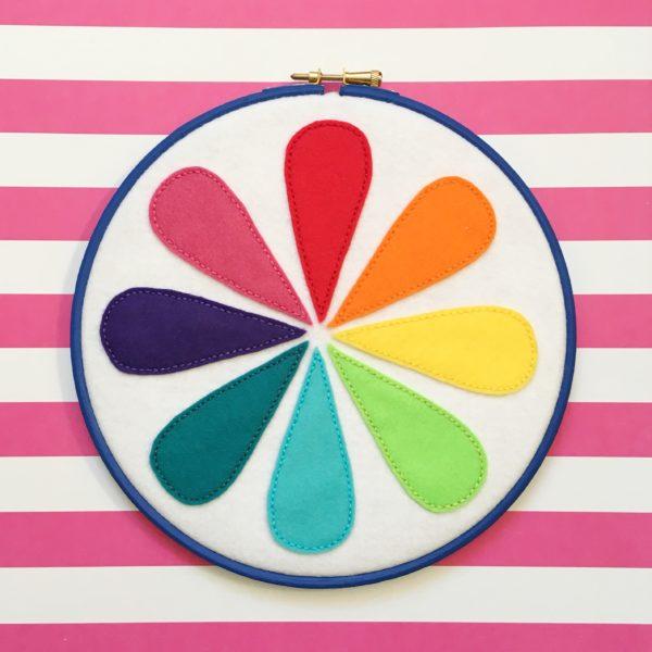 Retro colour wheel felt hoop | Hello! Hooray!