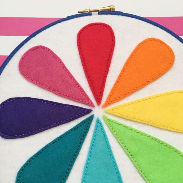 Retro colour wheel hoop