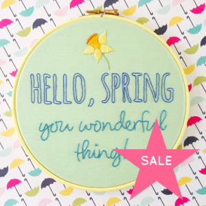 SALE Hello Spring You Wonderful Thing green hoop | Hello! Hooray!