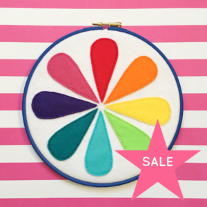 SALE Retro colour wheel felt hoop | Hello! Hooray!