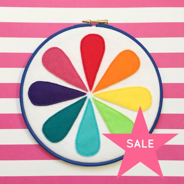 SALE Retro colour wheel felt hoop | Hello! Hooray!