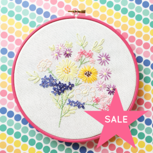 SALE Vintage floral bouquet hoop art | Hello! Hooray!