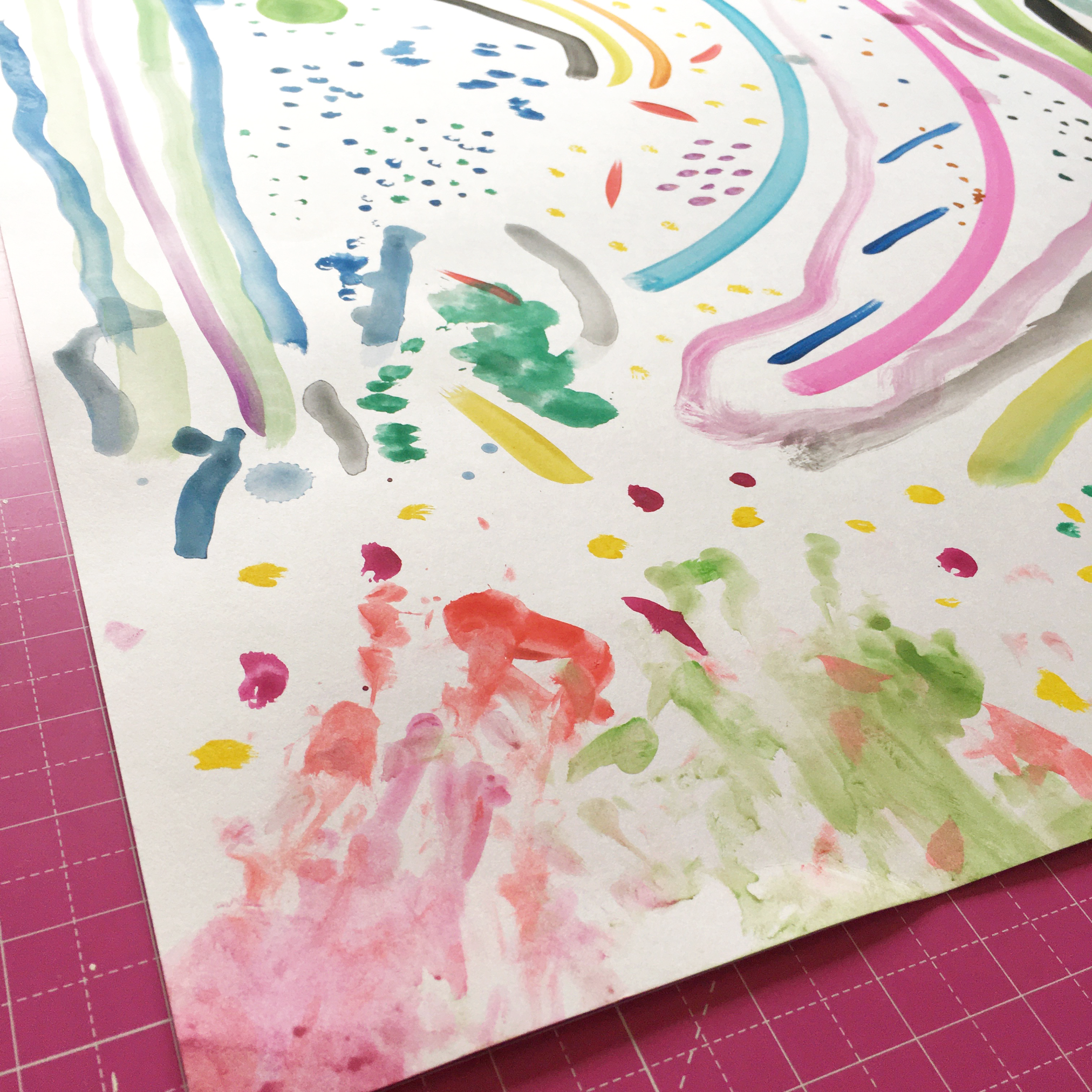 Step 1 Creative background with watercolours | Hello! Hooray!