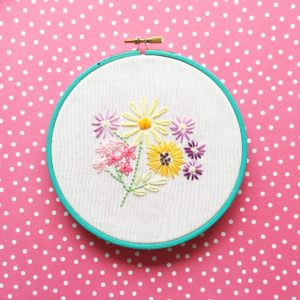 Vintage floral embroidery workshop at Spark:York CIC