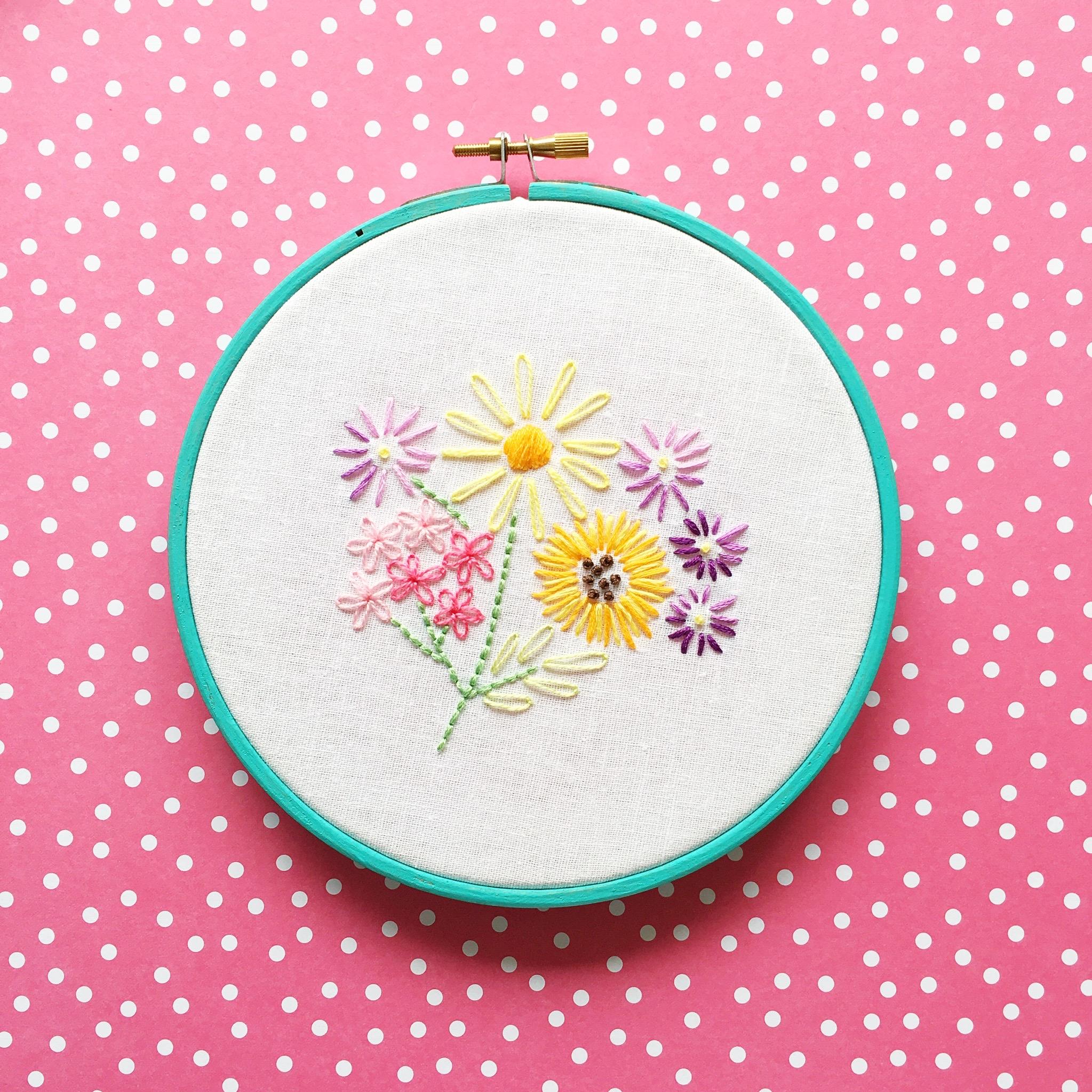 Vintage floral embroidery workshop