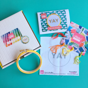 YAY hand embroidery kit | Hello! Hooray!