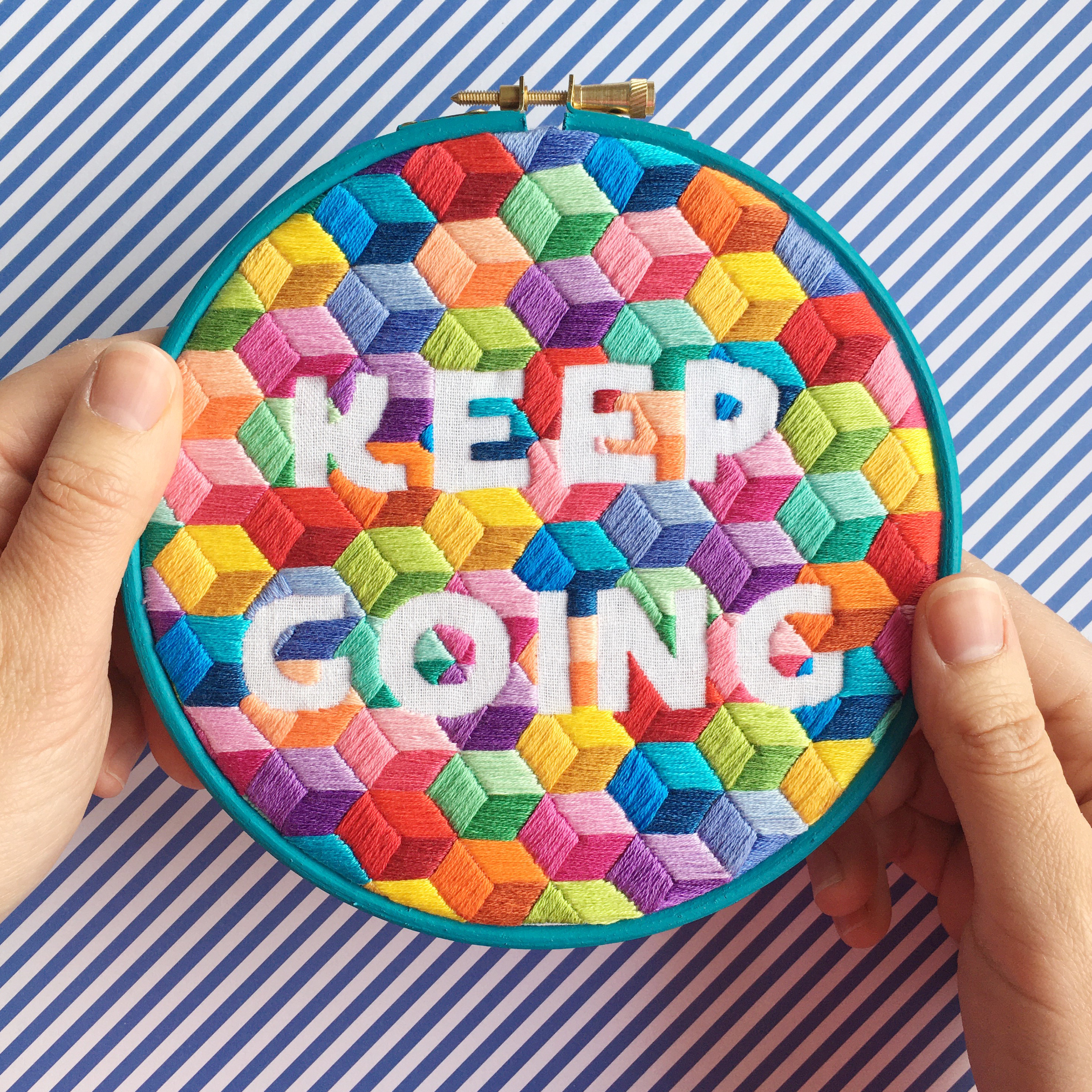 Keep Going hand embroidery kit | Hello! Hooray!