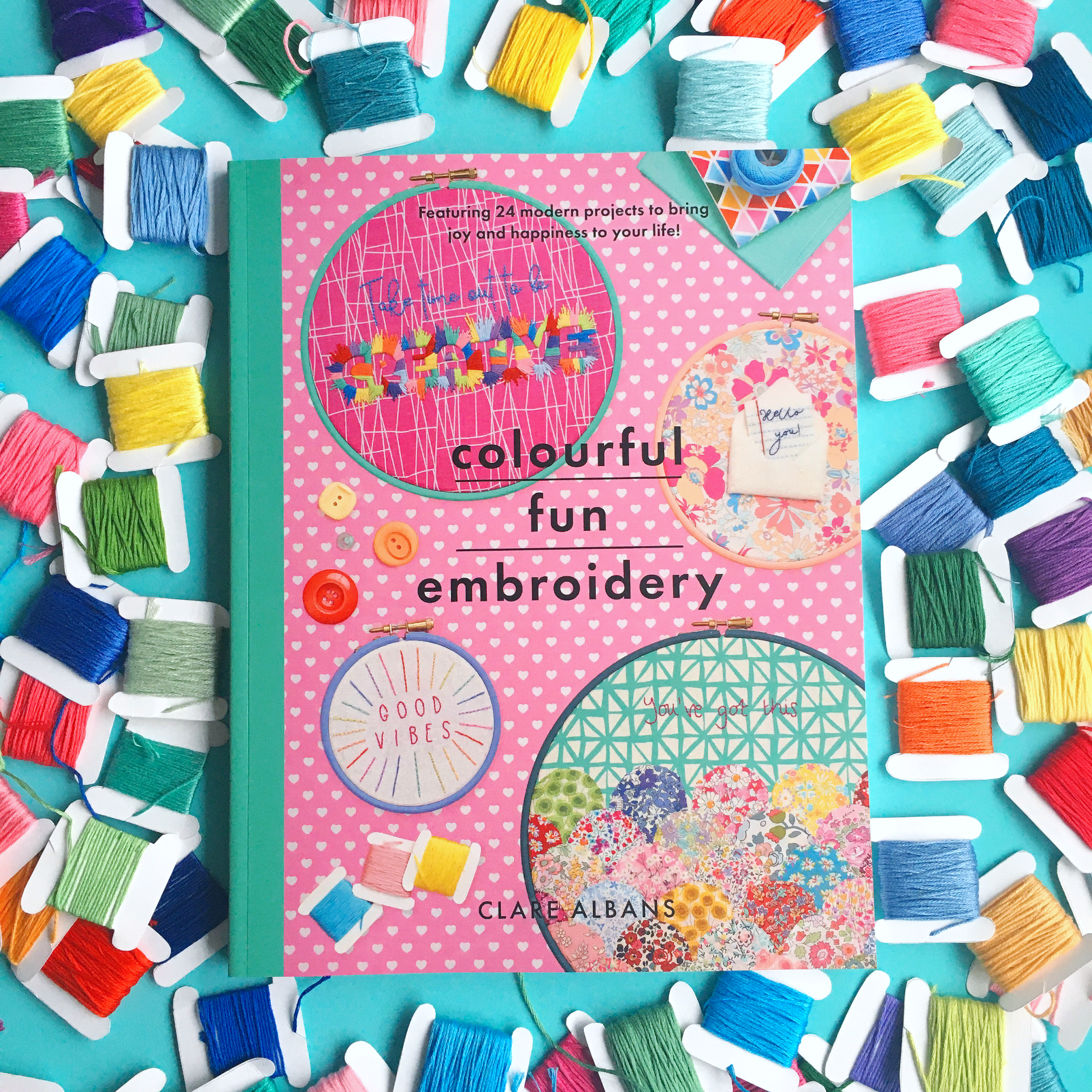 Colourful Fun Embroidery cover | Hello! Hooray!