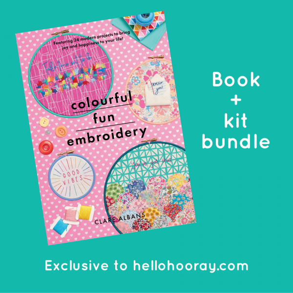 Colourful Fun Embroidery book and kit bundle | Hello! Hooray!
