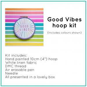 Good Vibes hoop kit | Hello! Hooray!
