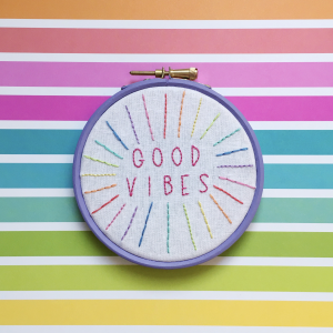Good Vibes hoop kit from Colourful Fun Embroidery | Hello! Hooray!