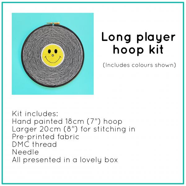 Long Player hoop kit   Hello! Hooray!