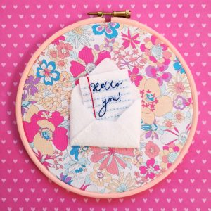 Snail Mail hoop kit from Colourful Fun Embroidery | Hello! Hooray!