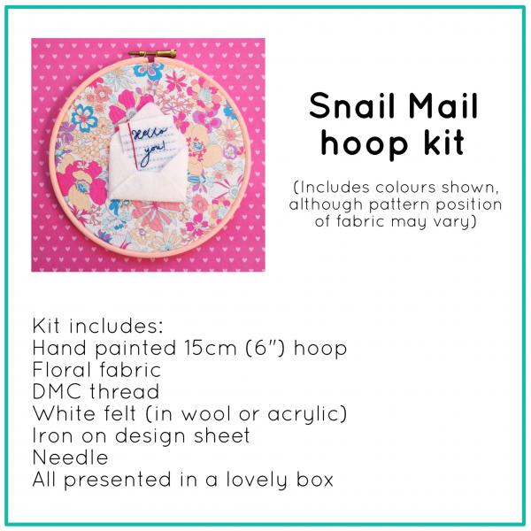 Snail Mail hoop kit   Hello! Hooray!