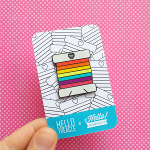 Rainbow bobbin enamel pin | Hello! Hooray!