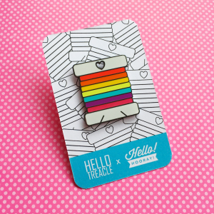Rainbow bobbin enamel pin | Hello Treacle and Hello! Hooray!