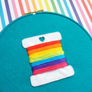 Rainbow bobbin hoop | Hello! Hooray!