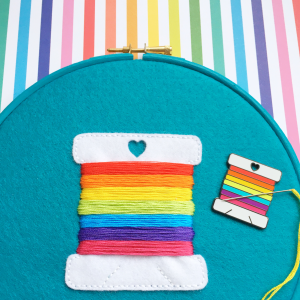 Rainbow bobbin embroidery kit bundle | Hello! Hooray!