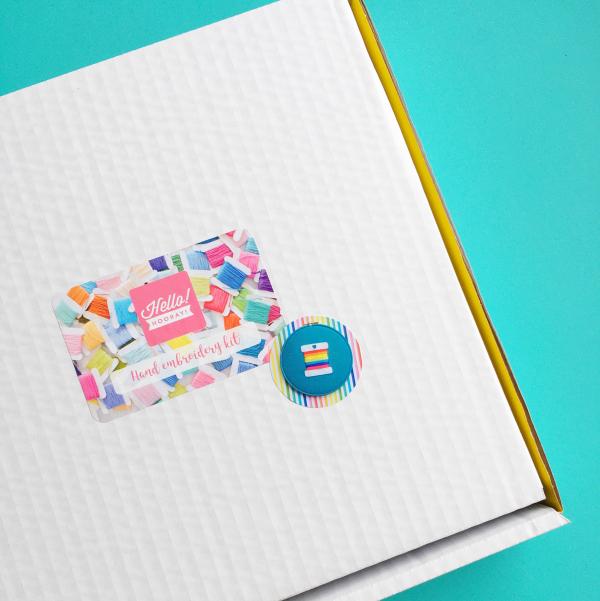 Rainbow bobbin kit box   Hello! Hooray!