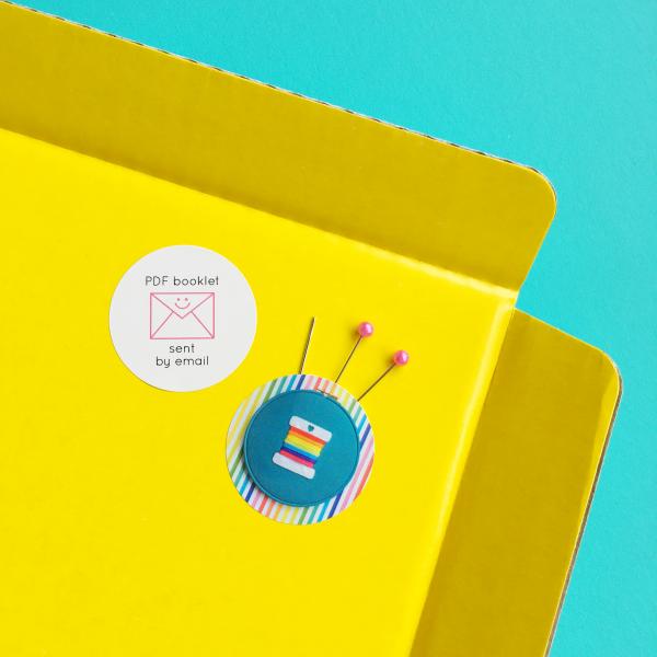 Rainbow bobbin kit details   Hello! Hooray!