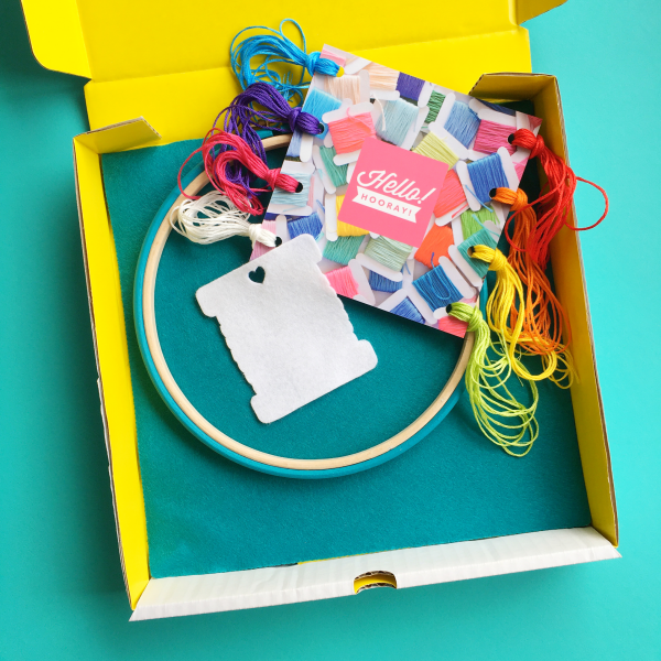 Rainbow bobbin kit materials | Hello! Hooray!