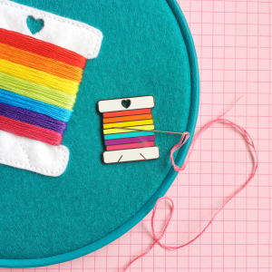 Rainbow bobbin needle minder and kit | Hello! Hooray!
