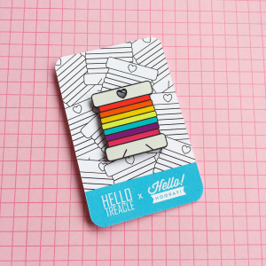 Rainbow needle minder | Hello! Hooray!