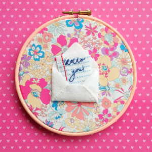 Snail Mail hand embroidery kit | Hello! Hooray!