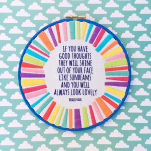 Sunbeams hand embroidery kit | Hello! Hooray!